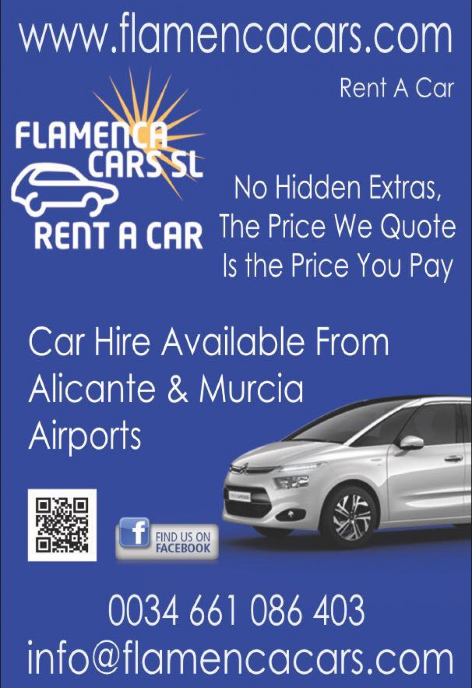 Flamenca Cars S.L. Car Hire at Alicante and Murcia Airports