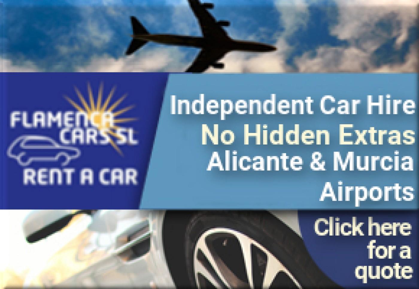 Flamenca Cars S.L. Car Hire at Alicante and Murcia Airports