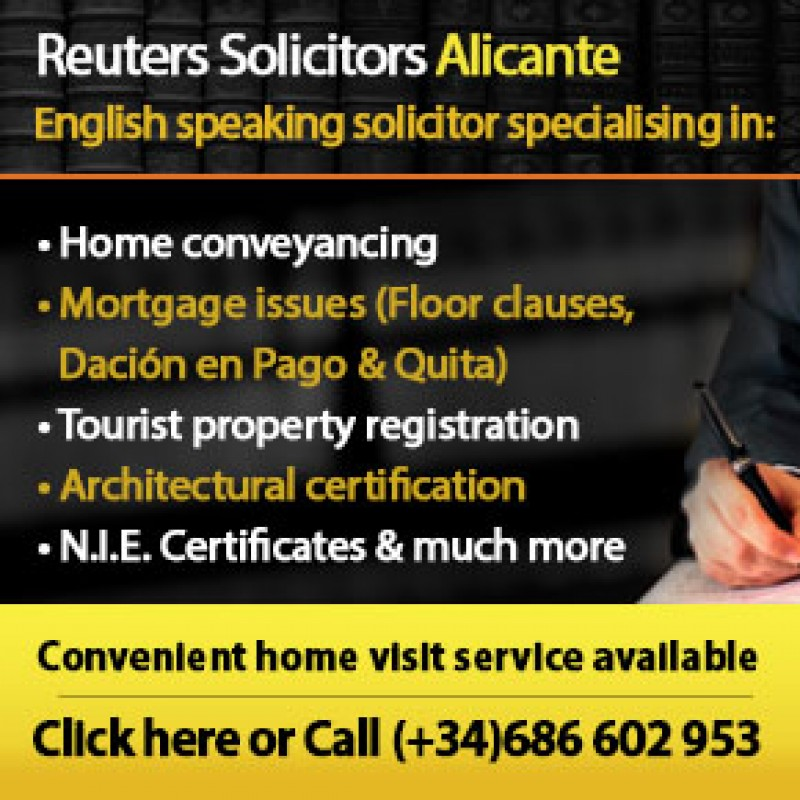 Reuters Solicitors, English-speaking legal firm in Alicante City