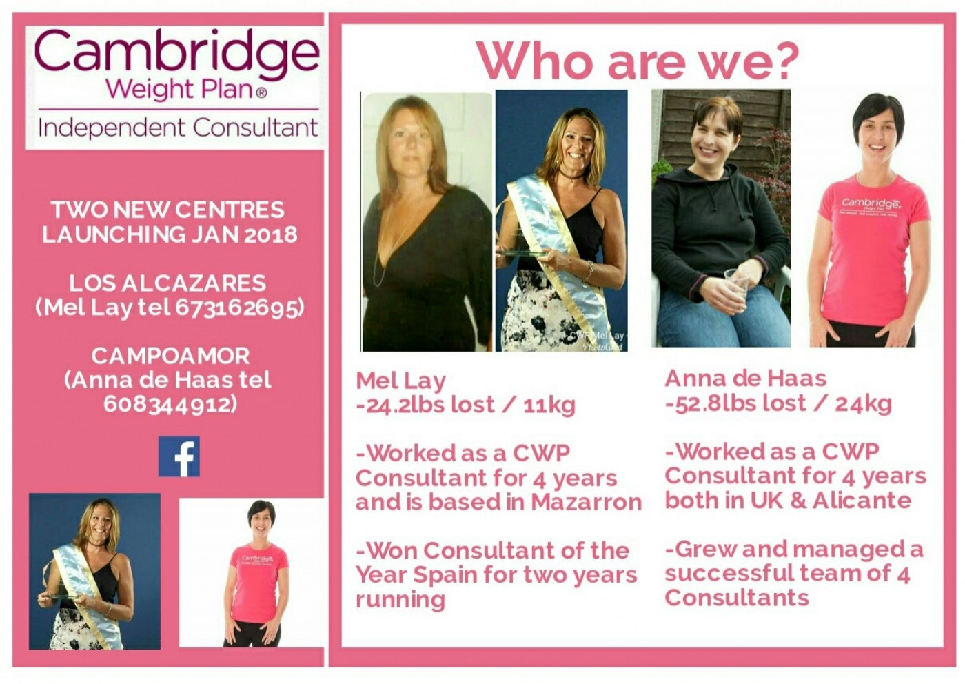 Cambridge Weight Plan Consultant in Elche and Orihuela areas