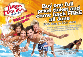 Terra Natura Waterpark in Murcia opens on 24th May