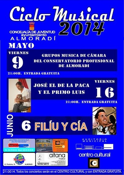 6th June, free flamenco pop fusion concert, Almoradí