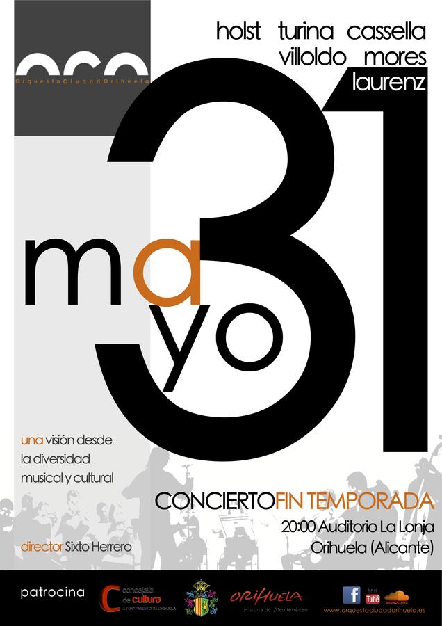 Saturday 31st May, Free classical concert, Orihuela