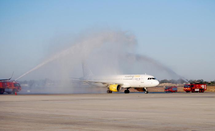 First Vueling St Petersburg flight lands at Alicante-Elche airport