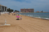 Playa de Los Locos, a long sandy beach in central Torrevieja