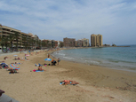 Playa del Cura, Torrevieja, a well-equipped urban beach
