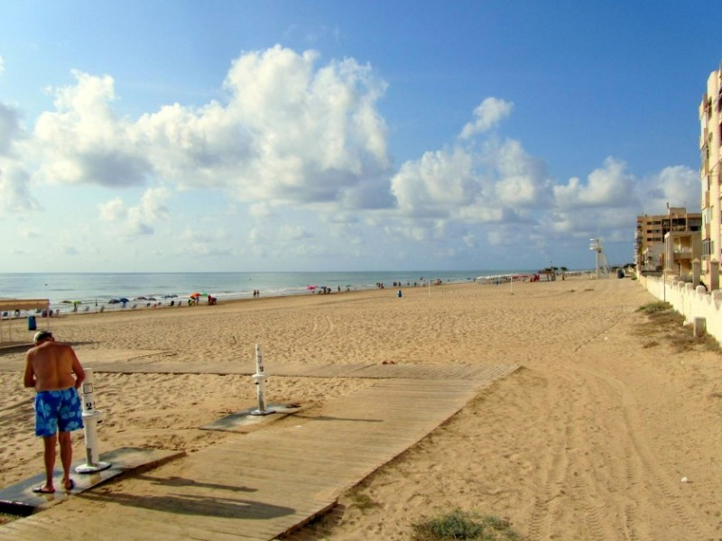 Overview of the beaches of Guardamar del Segura