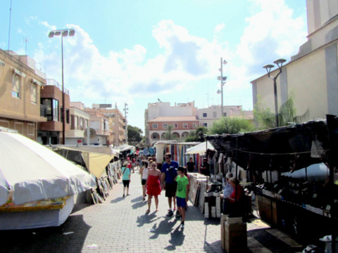 Weekly market in Guardamar del Segura  on Wednesday