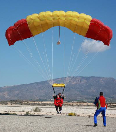 Take a tandem  Skydive Jump or learn skydiving and parachuting with Skydive España in the heart of Murcia