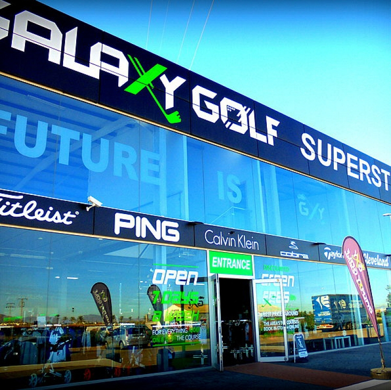 Galaxy Golf Superstore Los Alcazares and Campoamor for widest range of golfing equipment