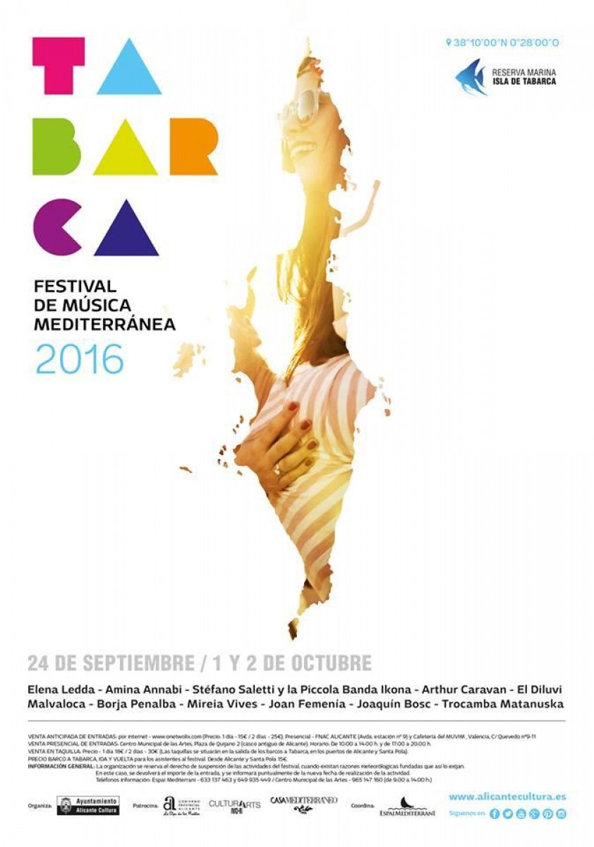 1st to 2nd October Mediterranean Music Festival on Isla Tabarca