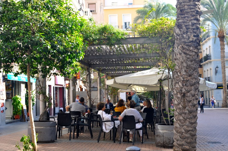 The Plaza Nueva in Alicante City