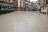 The River Segura bursts its banks in Orihuela