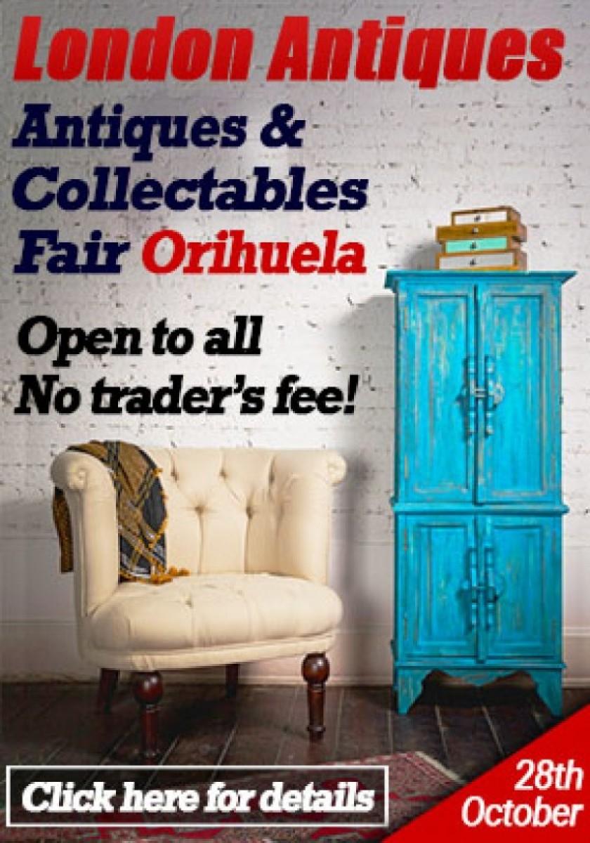 Saturday 28th October: Antiques fair at London Antiques in Orihuela