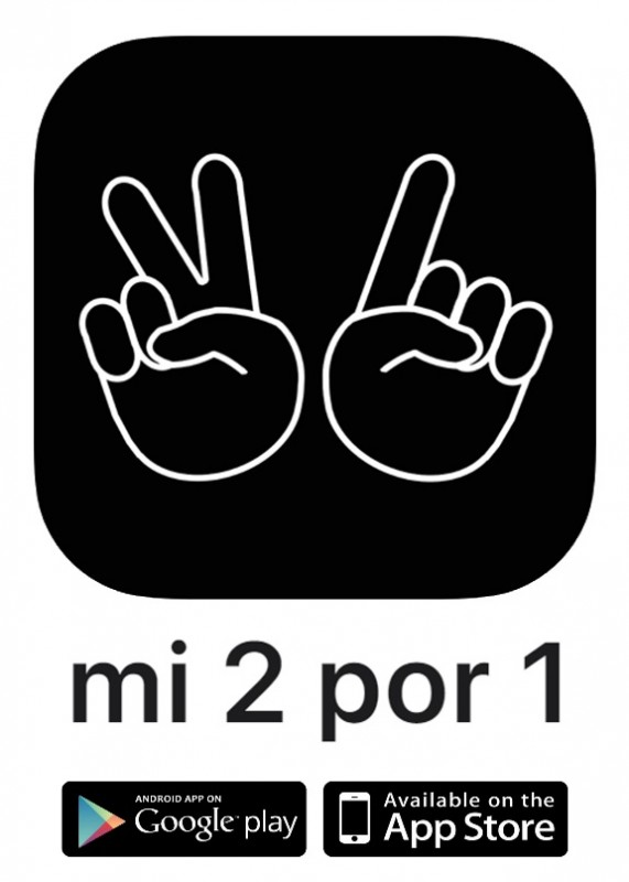 Hundreds of 2 for 1 offers accessible from your mobile phone, saving you money in Murcia and Alicante
