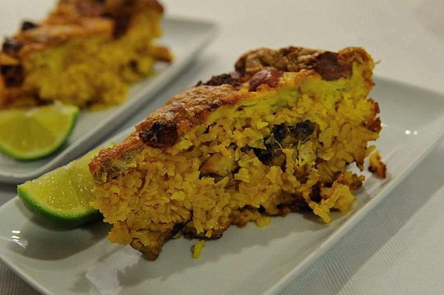 Valencia specialities: Arroz con Costra