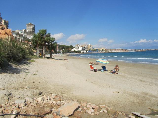 The beach of La Glea in Campoamor