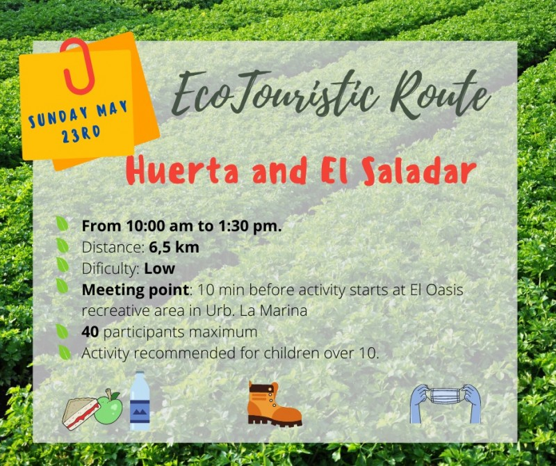 <span style='color:#780948'>ARCHIVED</span> - May 23 free 6km guided walk exploring the natural environment in San Fulgencio