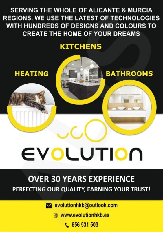 Evolution HKB Alicante province and Murcia region for Kitchens, heating and bathrooms