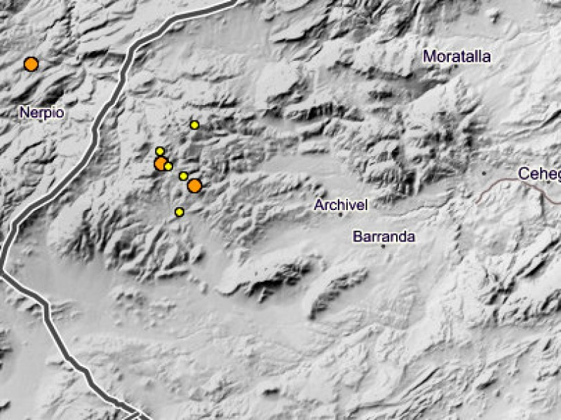 <span style='color:#780948'>ARCHIVED</span> - Seven minor earthquakes in under 36 hours in north-west Murcia