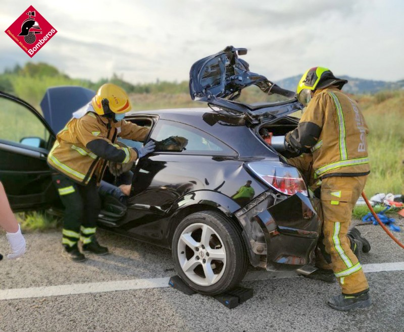 <span style='color:#780948'>ARCHIVED</span> - Multiple car crash due to wild boar on N-332 near Denia on the Costa Blanca