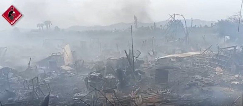 <span style='color:#780948'>ARCHIVED</span> - Family home completely gutted by fire in Catral on the Cost Blanca