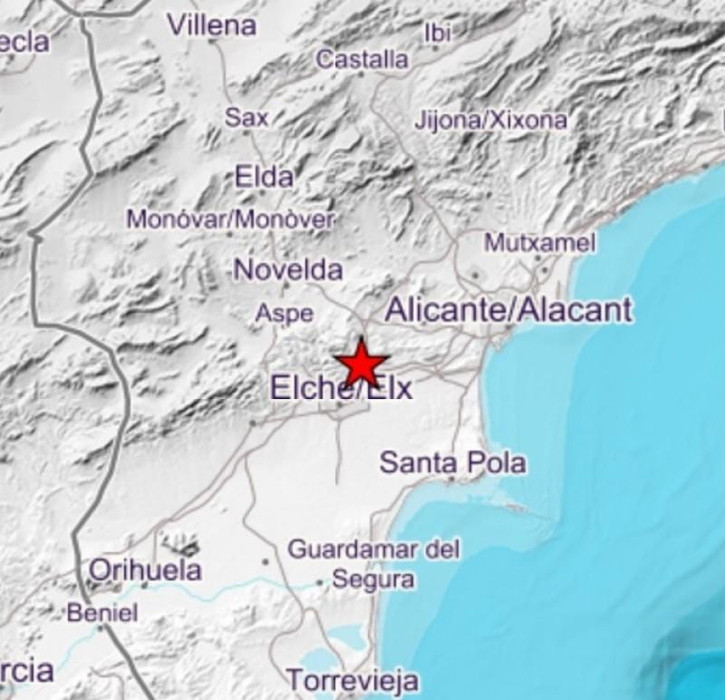 Elche shaken by minor earthquake felt 20 km away