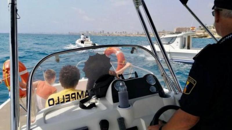 <span style='color:#780948'>ARCHIVED</span> - Injured schoolgirl in sea rescue off El Campello coast