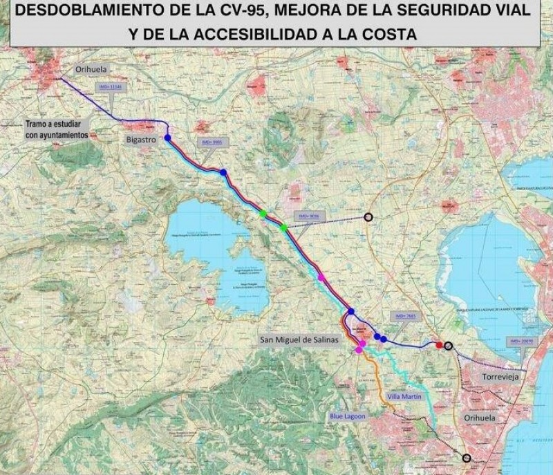 <span style='color:#780948'>ARCHIVED</span> - 30 million to be spent widening the CV-95 connecting Orihuela and Torrevieja