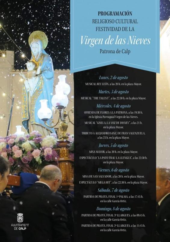 <span style='color:#780948'>ARCHIVED</span> - Calpe Virgin de las Nieves Fiestas July 31 to August 11