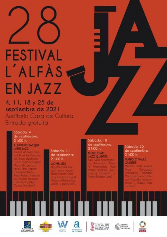 28th edition of Alfaz del Pi Jazz Festival every Saturday in September