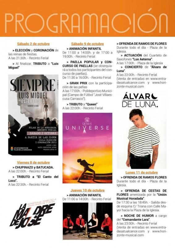 Pilar de Horadada fiestas: October 2 to 16