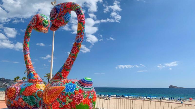 Open air exhibition of sculptures will remain in Benidorm until october 18