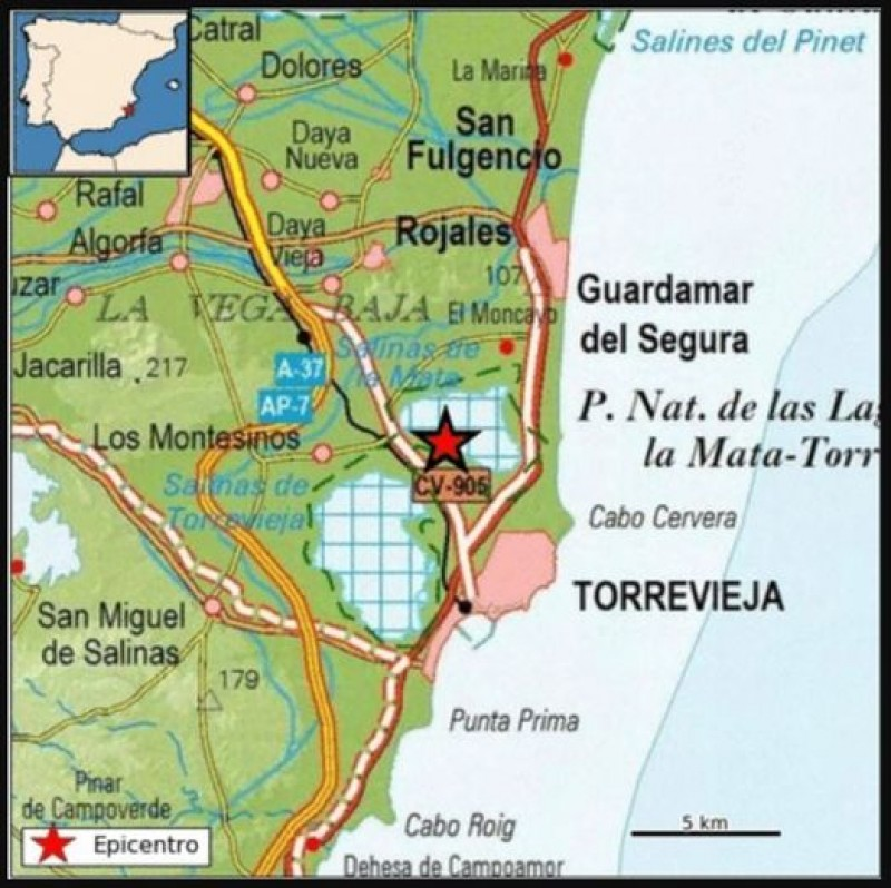 <span style='color:#780948'>ARCHIVED</span> - Tremors of 2.0 magnitude quake felt in Torrevieja and Los Montesinos