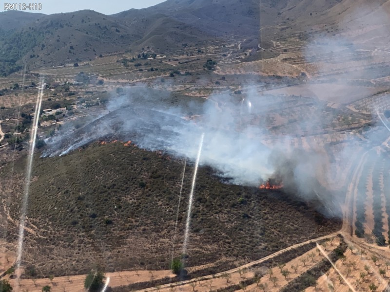 <span style='color:#780948'>ARCHIVED</span> - Forest fire in Mazarron destroys 2.3 hectares of land