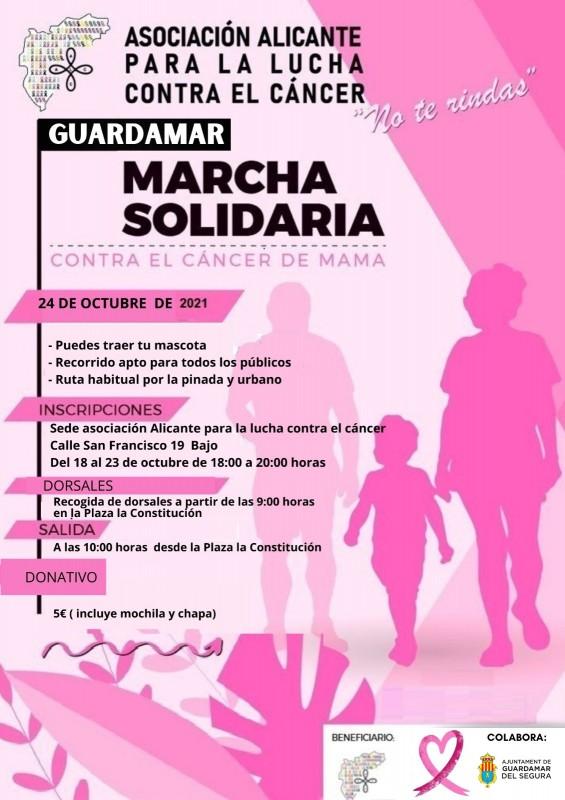 Breast cancer awareness walk in Guardamar: October 24