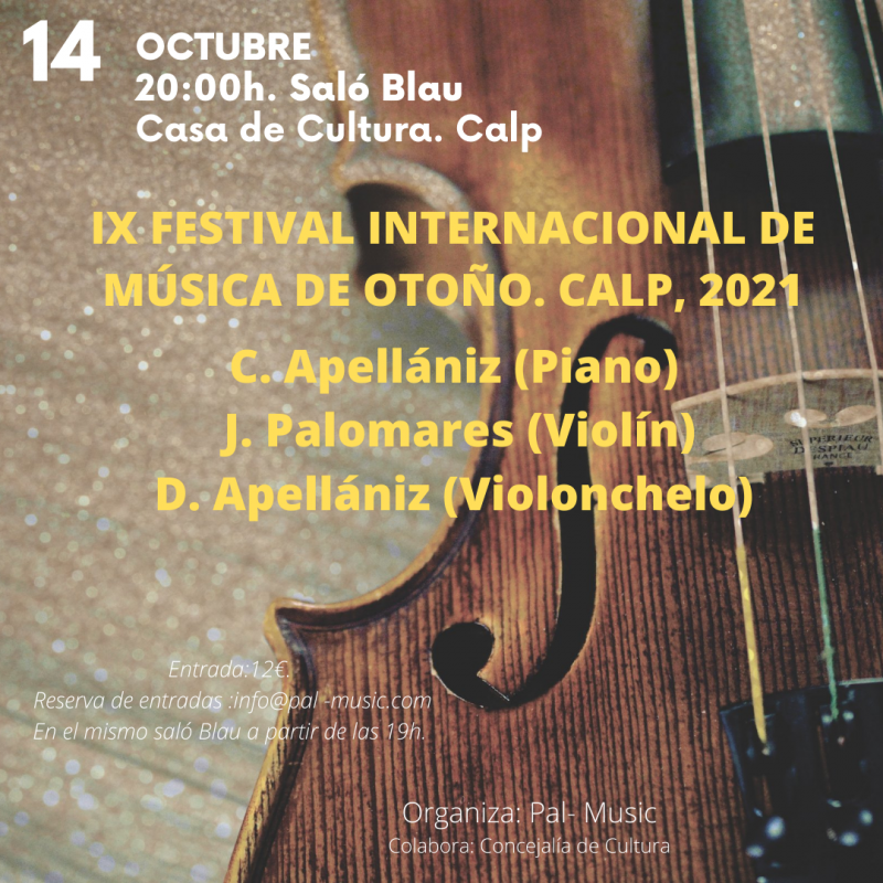 <span style='color:#780948'>ARCHIVED</span> - International Autumn Music Festival in Calpe: October 14