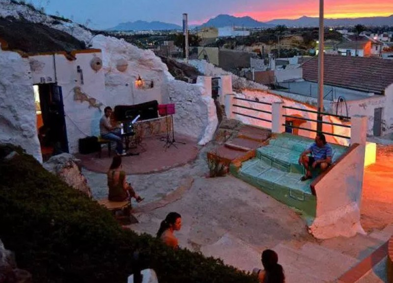 The Cuevas del Rodeo in Rojales, cave houses converted into art studios